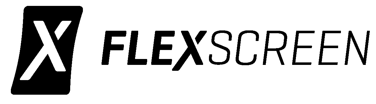 FlexScreen Black Landscape Logo